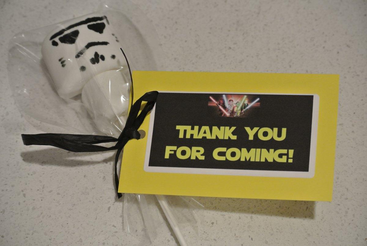 Bobble Head Star Wars Stormtrooper marshmallow pop favors