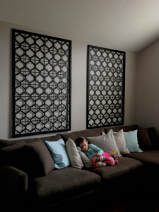 Family room wall