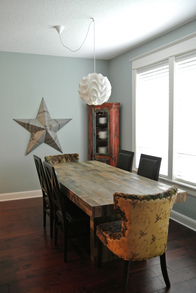 New dining room table